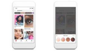 Pinterest añade una función de búsquedas de belleza inclusivas para su versión móvil