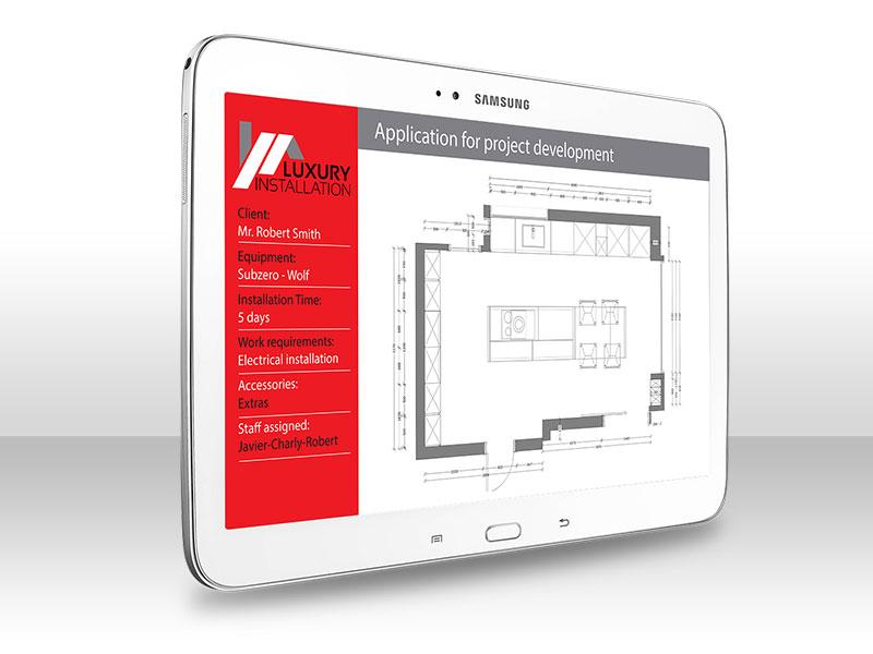 Desarrollo de APP Luxury Istallation