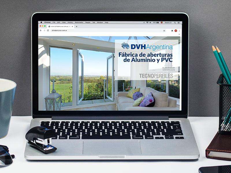 Diseño de página web DVH