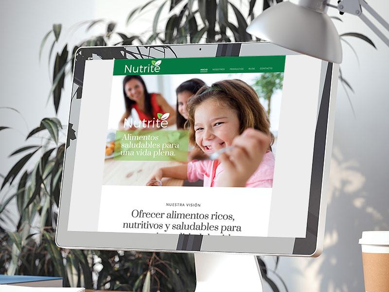 Diseño de página web Nutrite