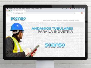 Diseño de página web Sacinso