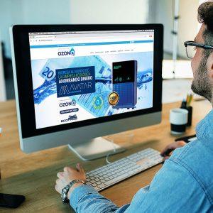 Diseño de página web Sistemas de Ozono