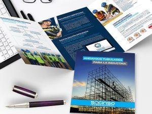 Diseño de folleto Sacinso