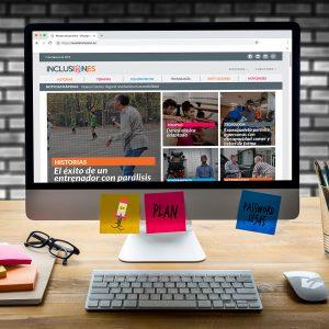 Diseño de página web Revista Inclusiones